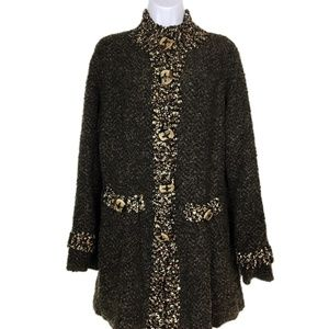 Dark Brown Knit Sweater Coat by Coldwater Creek